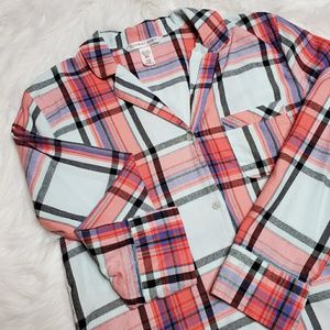 VS flannel PJ top